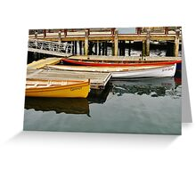 Gloucester Rowing Gigs Greeting Card