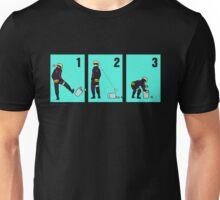 Ninja + Trash Can (Black Lineart) Unisex T-Shirt