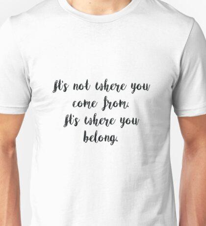The Fosters Lyrics Unisex T-Shirt