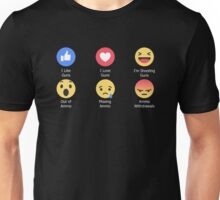 Emotions of Ammo/Gun Use Unisex T-Shirt