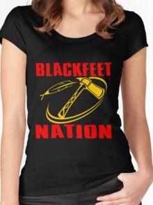 BLACKFEET NATION-TOMAHAWK 2 Women's Fitted Scoop T-Shirt