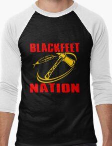 BLACKFEET NATION-TOMAHAWK 2 Men's Baseball ¾ T-Shirt