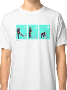 Ninja + Trash Can (Red Lineart) Classic T-Shirt