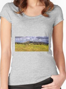 Castlerigg Stone Circle Women's Fitted Scoop T-Shirt
