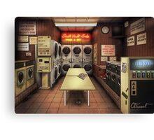 Coelary Laundromat Canvas Print
