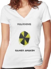 The Gamer Awoken Clothes Women's Fitted V-Neck T-Shirt