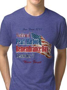 Pearl Harbor Remembrance Day Logo Tri-blend T-Shirt