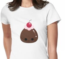 kawaii chocolate pudding Womens Fitted T-Shirt
