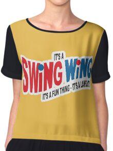 It's a Swing Wing, it's a fun thing Chiffon Top