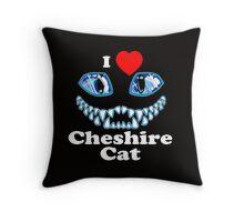 I Heart Cheshire Cat Throw Pillow