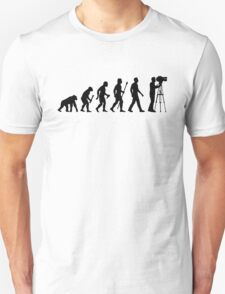 Funny Evolution of Cameraman Unisex T-Shirt