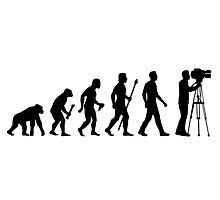 Funny Evolution of Cameraman Photographic Print