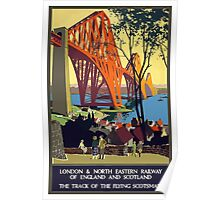 London & North Eastern Railway of England and Scotland Vintage Travel Poster Poster