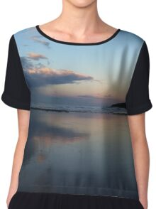 Beach scene Women's Chiffon Top