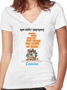 It's a Small Cantina Women's Fitted V-Neck T-Shirt