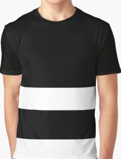 Double Stripe White Graphic T-Shirt