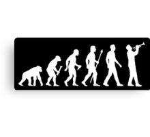 Trumpet Evolution Of Man Canvas Print