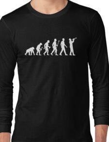 Trumpet Evolution Of Man Long Sleeve T-Shirt