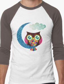 My Crescent Owl Men's Baseball ¾ T-Shirt