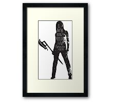 She Saved The World. A lot. Framed Print