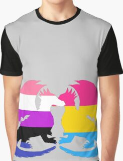 Genderfluid Pansexual Pride Dragons Graphic T-Shirt
