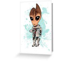 Mordin Chibi Greeting Card
