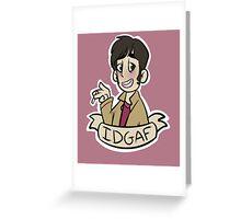 "Marble Hornets: Tim Wright ""IDGAF"" Greeting Card"