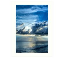 In Heaven's Light - Beach Ocean Art by Sharon Cummings Art Print