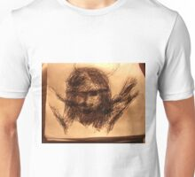 JC Head sketch -(290515)- Black Biro Pen/A4 sketchbook Unisex T-Shirt