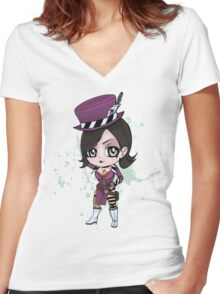 Moxxi Chibi Women's Fitted V-Neck T-Shirt