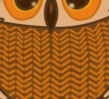 owl in sweater Sticker