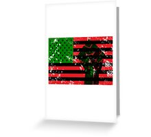 Black Flag Greeting Card