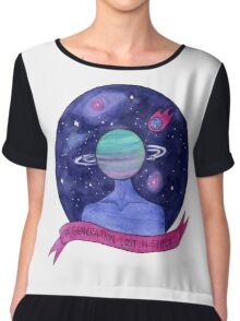Space Brain Chiffon Top