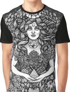 Divine Mother Gea Tree / BW Graphic T-Shirt