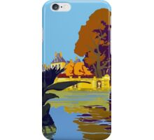 Fontainebleau Avon France Vintage Travel Poster iPhone Case/Skin