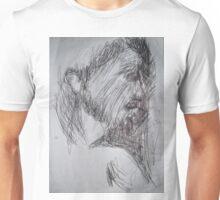 Christ sketch -(260413)- A4 white sketchbook/black biro pen Unisex T-Shirt