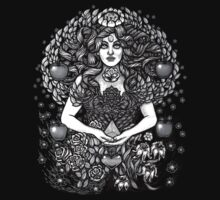 Divine Mother Gea Tree / BW One Piece - Long Sleeve