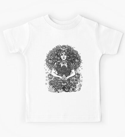 Divine Mother Gea Tree / BW Kids Tee