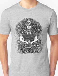 Divine Mother Gea Tree / BW Unisex T-Shirt