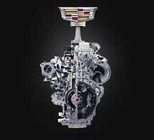 cadillac engine power coupe motor with new logo Unisex T-Shirt