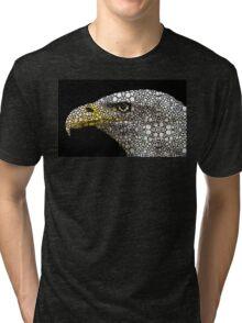 Bald Eagle Art - Eagle Eye - Stone Rock'd Art Tri-blend T-Shirt