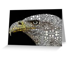 Bald Eagle Art - Eagle Eye - Stone Rock'd Art Greeting Card