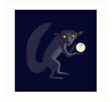 Aye Aye Steals the Moon Art Print