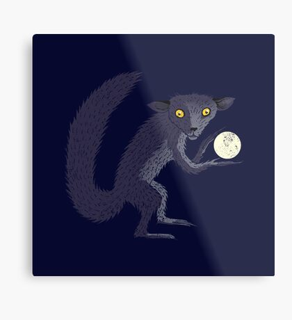 Aye Aye Steals the Moon Metal Print