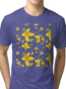 Forsythia blossoms Tri-blend T-Shirt