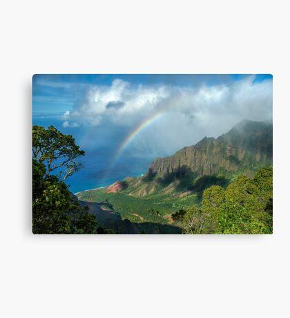 Rainbow at Kalalau Valley Canvas Print