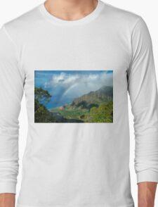 Rainbow at Kalalau Valley Long Sleeve T-Shirt