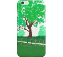 tree behind fence iPhone Case/Skin