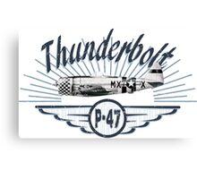 Thunderbolt P-47 Canvas Print