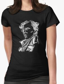 Sketched Sherlock Womens Fitted T-Shirt